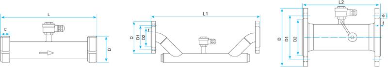 管道式超声波流量计传感器