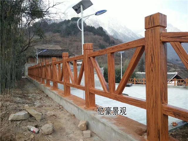 三明梅列V型仿木护栏