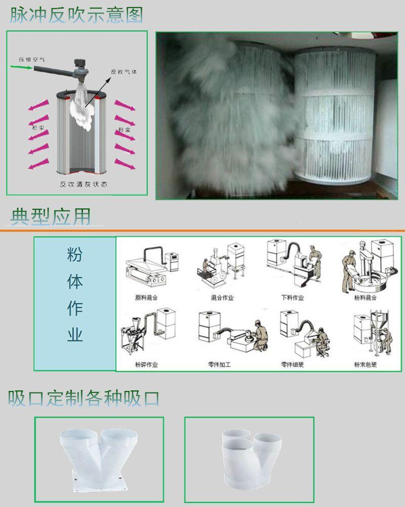 MCJC-1500|1.5KW工业脉冲集尘机,大吸力工业吸尘器 吸尘器 工业吸尘器 移动吸尘器示例图6