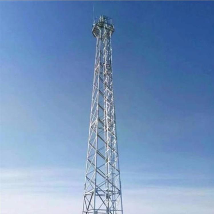优质角钢烟筒塔 公园监控杆 监控杆