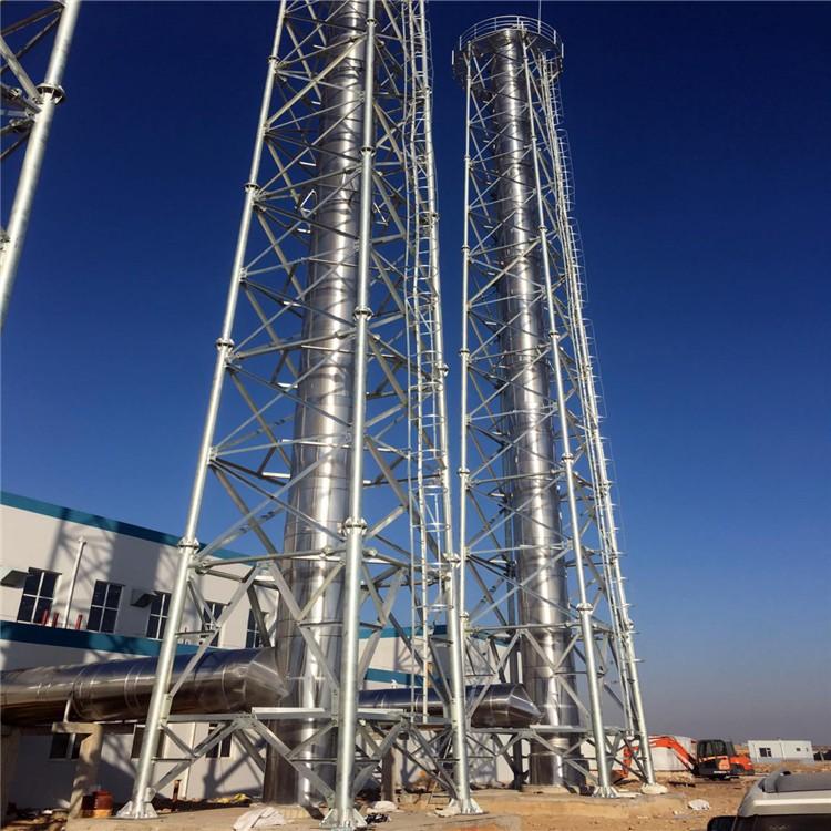 塔架式烟囱 不锈钢保温烟囱 不锈钢烟囱耐腐蚀 林东
