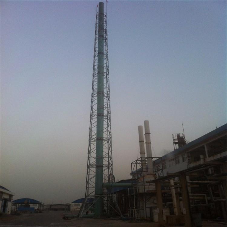 环保烟筒塔 耐腐蚀烟囱塔 双层不锈钢烟囱 林东